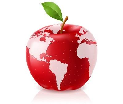 manzana con mapamunid