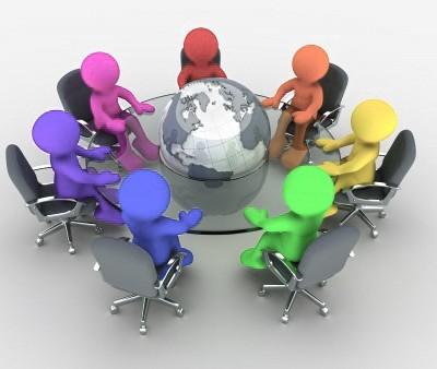 reunion con globo terraqueo